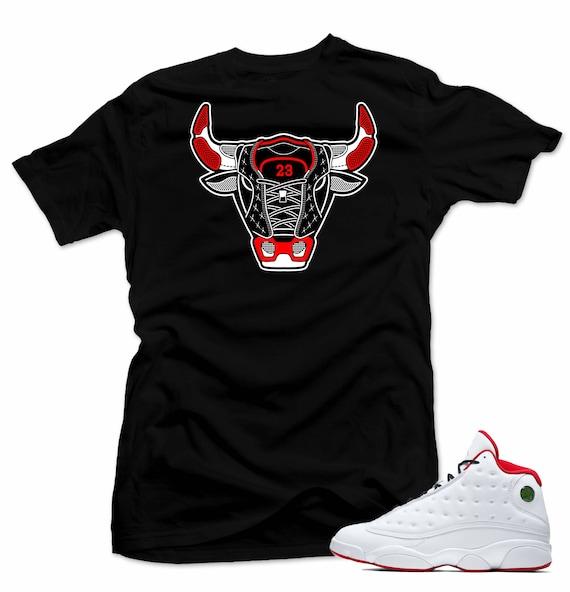 Shirt to match Air Jordan History of Flight Retro 13. Bull 13 d422583ce