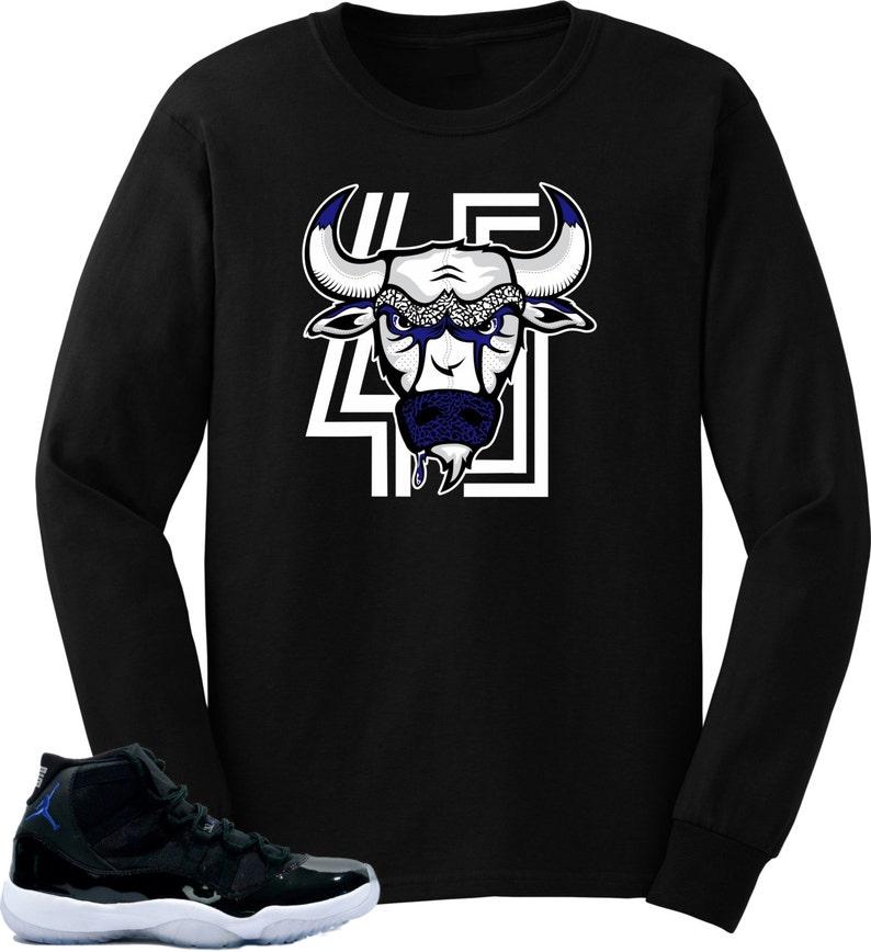 8e2089d0de0 T shirt to match Air Jordan 11 Space Jam Shoes Bull | Etsy
