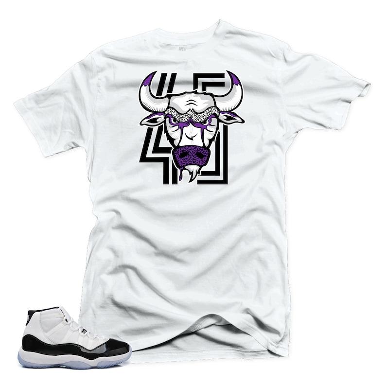 f15ec59dd68ee1 Jordan 11 Concord shirt Bull 45 White