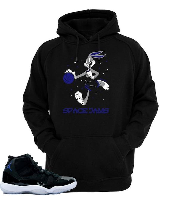 Hoodie to match Air Jordan 11 Space Jam Shoes Bugs | Etsy