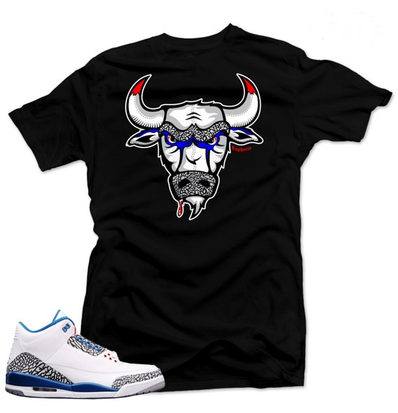 sports shoes 973f5 5c14f T Shirt to match Nike Air Jordan Retro 3 true blue The   Etsy