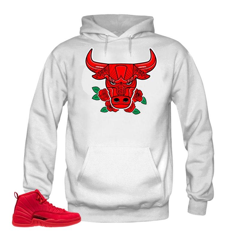 release date: f37e5 f4289 Hoodie to Match Jordan 12 Bulls- Bull 12 Black