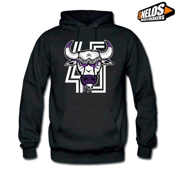 Jordan 11 Concord-Hoodie Bull 45 Black