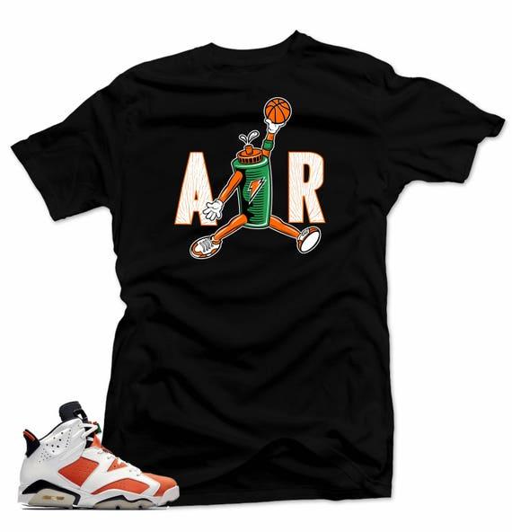 184e522daf8 Shirt to match Air Jordan 6 Gatorade.AIR Black Tee | Etsy