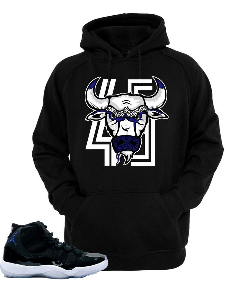 91ecb1fc89d Hoodie to match Air Jordan 11 Space Jam Shoes Bull | Etsy