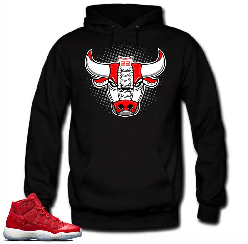 3c9a40f449419a Hoodie to match Air Jordan 11 Win like 96 Bull 11 Black