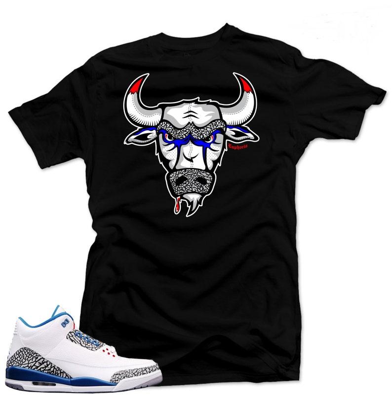 14b9ed1961ae T Shirt to match Nike Air Jordan Retro 3 true blue The
