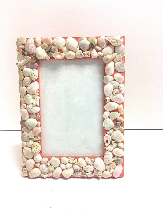 Coral Decor Seashell Picture Frame 4 By 6 Frames Etsy