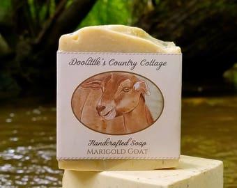 "Soap - ""Marigold Goat"" - Goat's Milk Soap, Natural Soap, Milk Soap, Animal Soap, Goat, Goat Milk Soap, Goat's Milk, Handmade Soap"