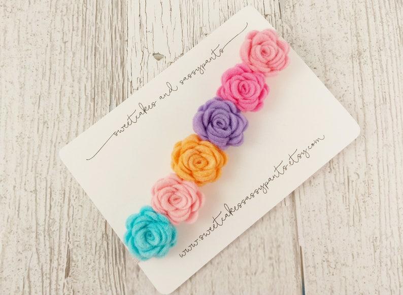 flower headband felt flower headband felt flower headband pastel rainbow felt flower crown felt flower crown rainbow baby headband