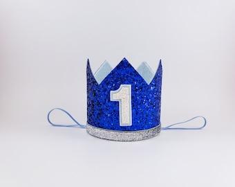 boy party hat, royal blue 1st, 1st birthday, 1st birthday party hat, birthday party crown, first birthday boy outfit, 1st birthday outfit