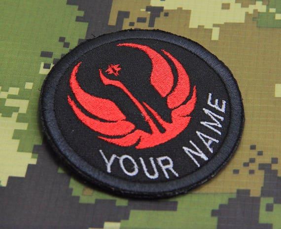 Star Wars Jedi emblem Black Border 8cm x 8cm Patch Sew or Iron on Badge