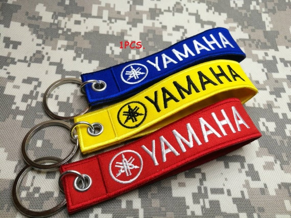 YAMAHA MOTORCYCLE BIKER RACING EMBROIDERED TAG KEYCHAIN  KEY RING LUGGAGE TAG