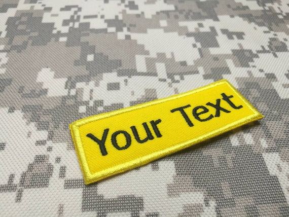 Police Name Tape Text Patch 1x5 Custom Military