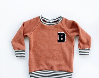 6e3d9b6c7ab Customized Letterman Crewneck, baby sweatshirt, baby crewneck coming home  outfit, baby boy clothing, baby girl clothing, modern baby
