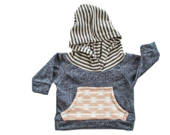 Blue Pink Axle Hoodie, baby hoodie, newborn hoodie, coming home outfit, baby boy clothing, baby girl clothing, modern baby