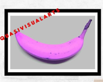 Andy Warhol Pop Banana Street Art from QuasiVisualArts