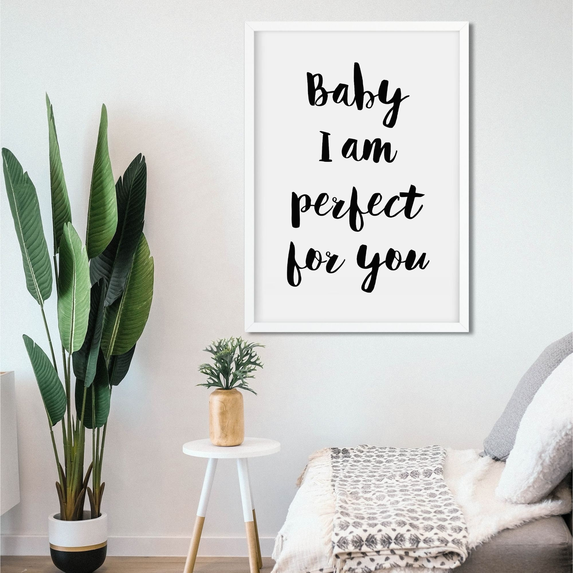 Baby I am perfect for you   One Direction Lyric Print   Instant Download