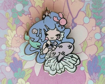 Purple Mermaid Princess Enamel Pin