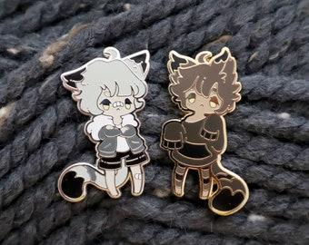 Mori and Esper Cat Boy Pins