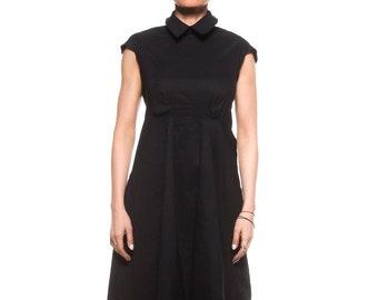 Black Summer Dress, Black Midi Dress, Women Black Dress, Gothic Clothing, Loose Dress, Sleeveless Dress, Steampunk Dress, Party Dress