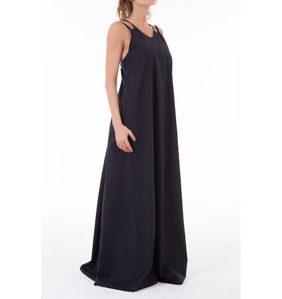 Maxi Dress Summer Dress Black Dress Renaissance Dress Etsy