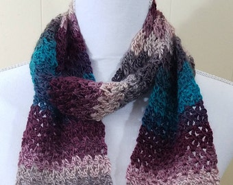 Purple and Teal Variegated Scarf