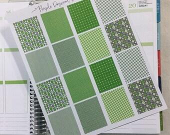 Green & Grey Full Life Planner Box Stickers!
