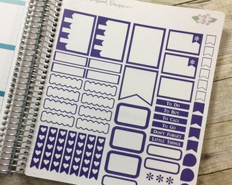Purple Vertical Life Planner No Shading Theme - Full Page ~ 3256F ~