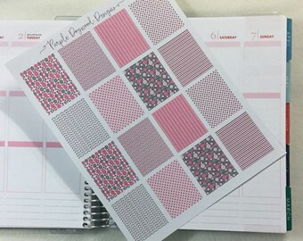 Pink and Grey Full Life Planner Box!