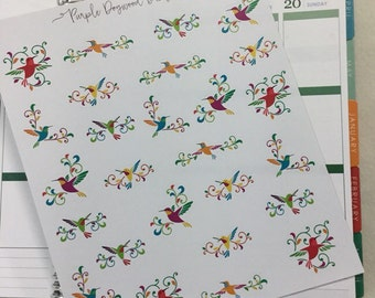 Beautiful Hummingbird Stickers!  Perfect for your planner!