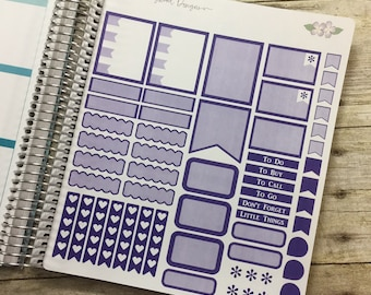 Purple Vertical Life Planner Shaded Theme - Full Page ~ 3247F ~