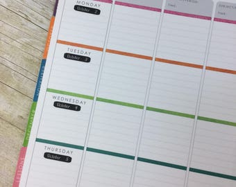 Chalkboard Date Rounded Edges Teacher Planner Stickers