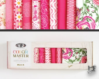 Life is Pink Color Masters Fat Quarter Collector's Box by Art Gallery Fabric B-FQ102