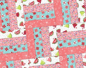 Sprinkle Sunshine Rail Fence Precut Quilt Kit Pod by Maywood Studio POD-MAS03-SPS