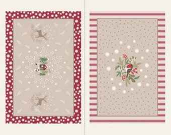 """Lewis & Irene Countryside Christmas Placemat 18"""" Panel C25 1"""