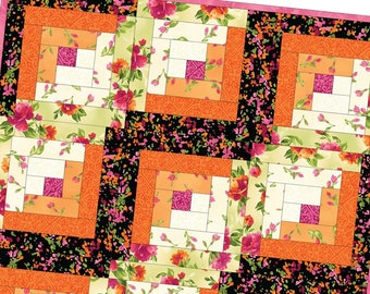 Paradise Log Cabin Precut Quilt Kit Pod by Maywood Studio MAS02-PAR