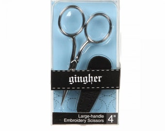 Gingher 4 inch Large Handle Embroidery Scissors G4014