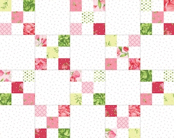 Sweet Pea Flannel Irish Chain Quilt Pod™ Kit by Maywood Studios POD-MAS06-SWPF