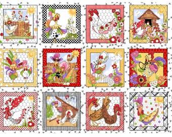 Chicken Chique Panel by Loralie Designs 692-222