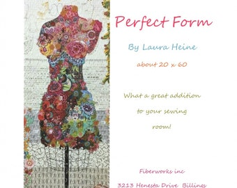 Perfect Form Collage Quilt Pattern by Laura Heine for Fiberworks LHFWPF