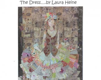 The Dress Collage Quilt Pattern by Laura Heine for Fiberworks LHFWDRESS