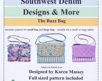 The Buzz Bag Tech Device Pattern by Southwest Denim Designs & More K-112