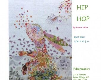 Hip Hop Rabbit Collage Quilt Pattern by Laura Heine for Fiberworks LHFWHIP