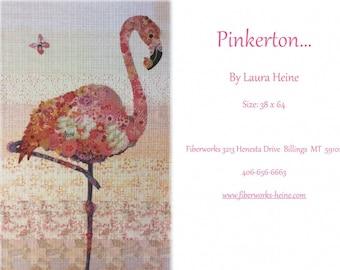 Pinkerton Collage Quilt Pattern by Laura Heine for Fiberworks LHFWPINK