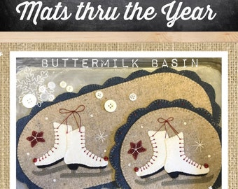 Buttermilk Basin Simply Scalloped Mats Thru the Year Pattern/Kit for both Oval Mat & Round Mat