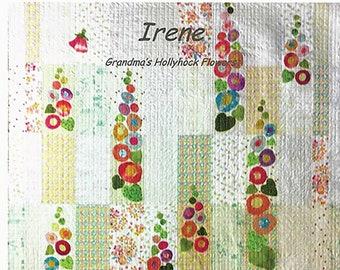 Irene Applique Quilt Pattern by Laura Heine for Fiberworks LHFWIRENE