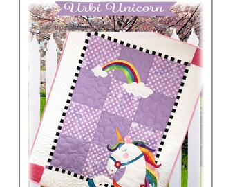 Urbi the Unicorn Quilt Pattern by The Quilt Factory/Debra Grogan QF-1812