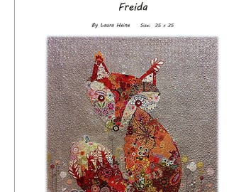 Freida Collage Quilt Pattern by Laura Heine for Fiberworks FBWFREIDA