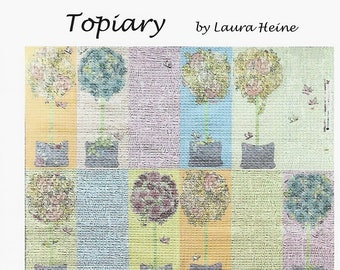 Topiary Collage Quilt Pattern by Laura Heine for Fiberworks FBWTOPIARY